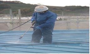 屋根上洗浄