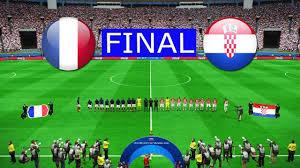 熱戦のファイナル フランス対クロアチア戦 開始前の緊張の中で国歌斉唱