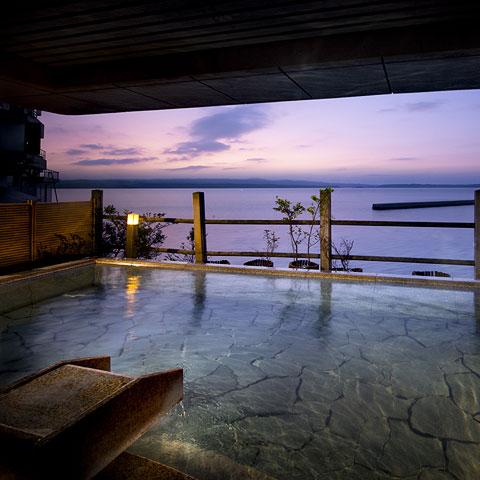 和倉温泉 露天風呂の景色