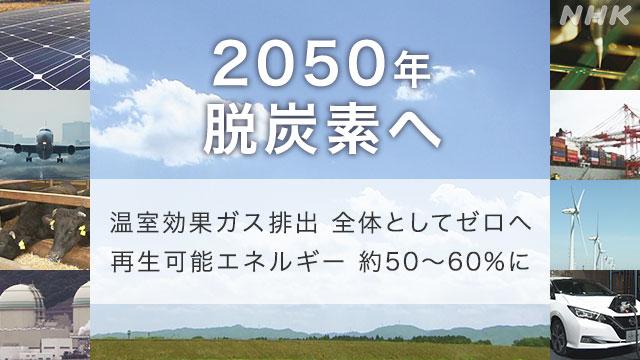 脱炭素社会2050年実現へ 具体的な道筋を決める