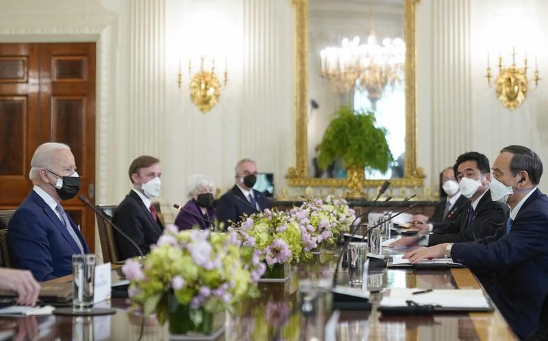日米首脳会談 菅首相:バイデン大統領