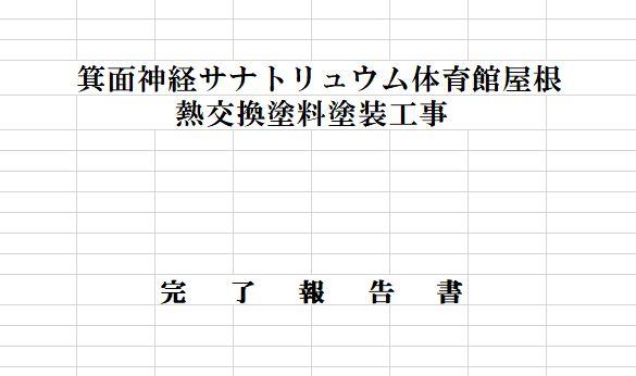 報告資料の表紙 2009年8月 完工