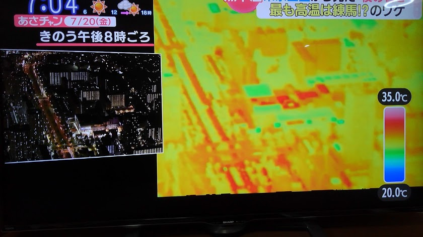 東京都心の夜8時30℃以上