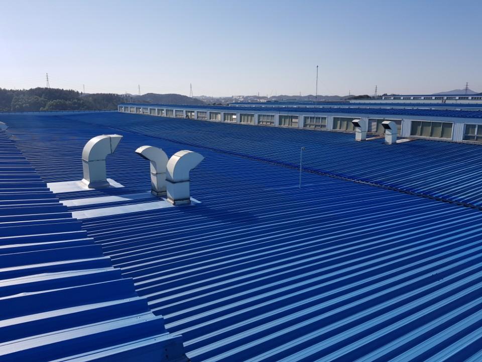 韓国 現代自動車 折半屋根 熱交換塗料