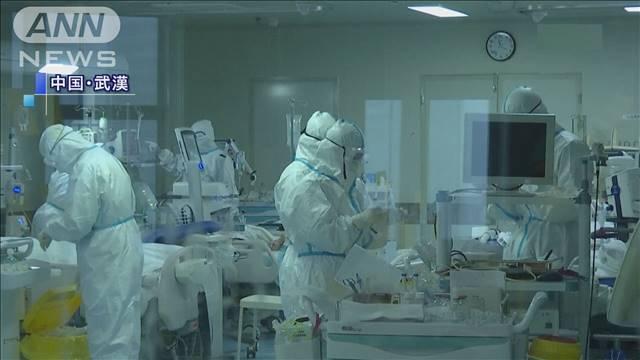 コロナウイルス対策の完全防備の患者対応