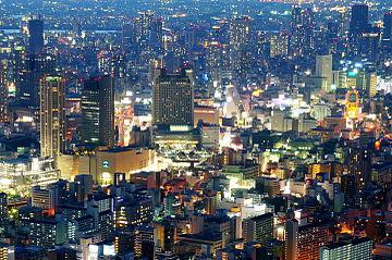 夜の繁華街 ミナミの夜景