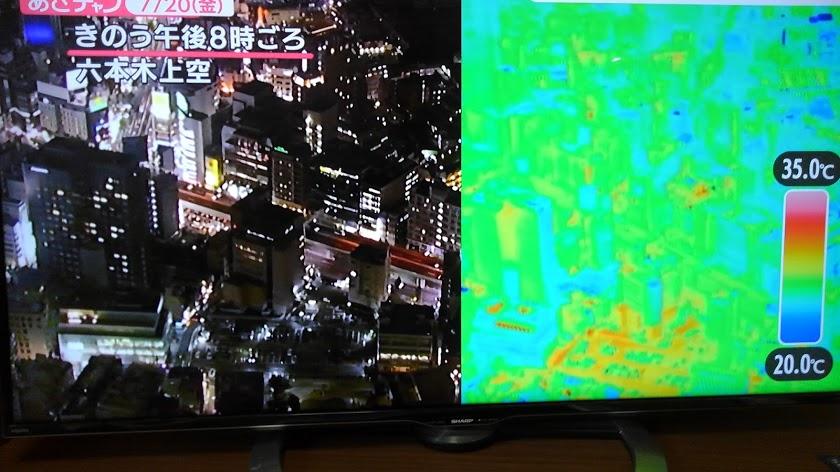 東京六本木上空から夜8時