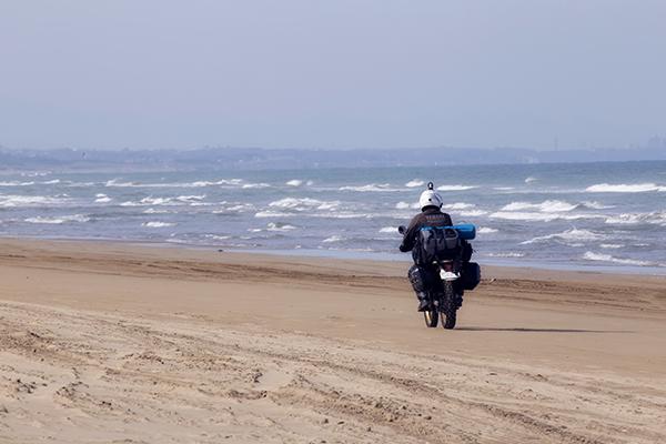 千里浜なぎさドライブウエー 二輪車