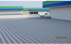 屋根 熱交換塗料塗布完了
