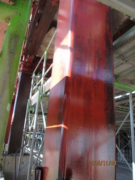 東日本大震災保存事業 防錆塗料CCP-117塗布