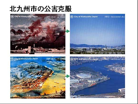 1960年と1990年のコンビナートの汚染の違い