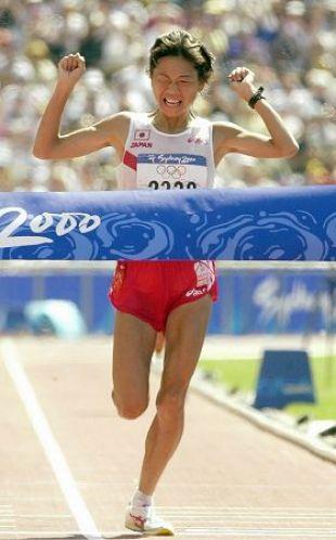 2000年シドニーオリンピック 高橋尚子がゴール