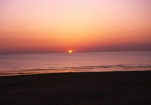 千里浜なぎさドライブウエー 夕日