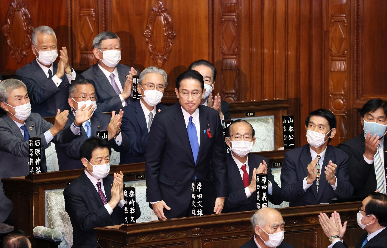内閣総理大臣に岸田文雄氏が衆参両院で選任