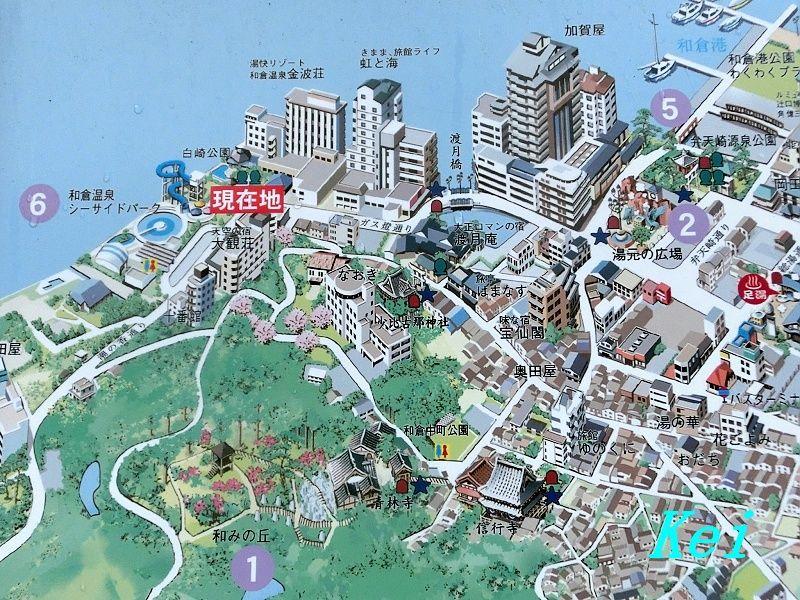 石川県能登半島の地図 七尾市 和倉温泉