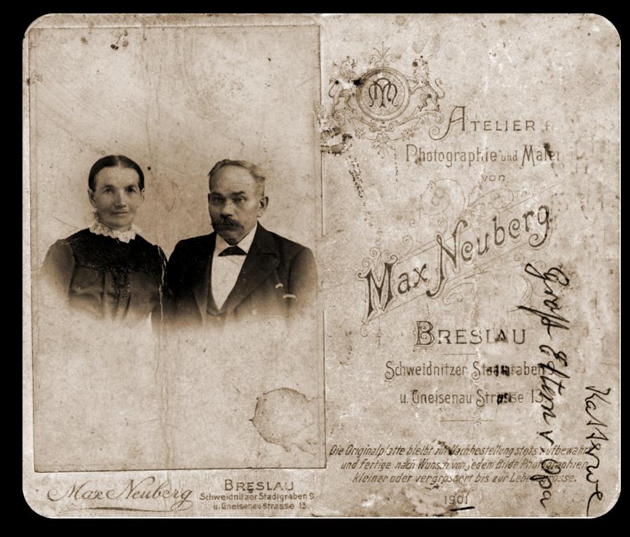 Carl Friedrich Wilhelm Katterwe & Pauline Caroline geb. Latz, Schustermeister in Groß Graben