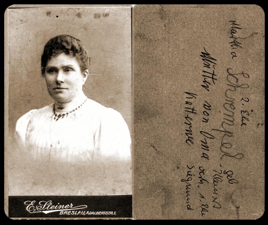 Martha Kleinert geb. Siegmund