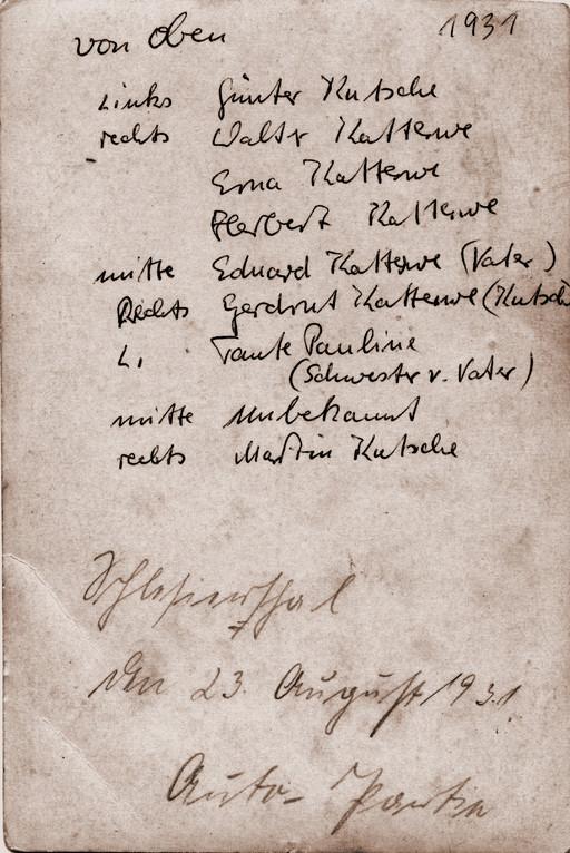 Katterwe Ausflug 1931