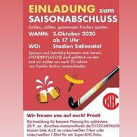 SAVE THE DATE! KHC-SAISONABSCHLUSS AM 2. OKTOBER