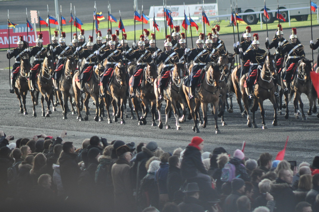 die Parade der französischen nationalgarde