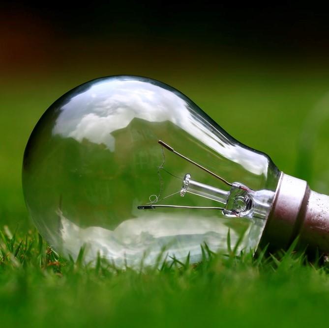 植栽内の電灯が点滅する