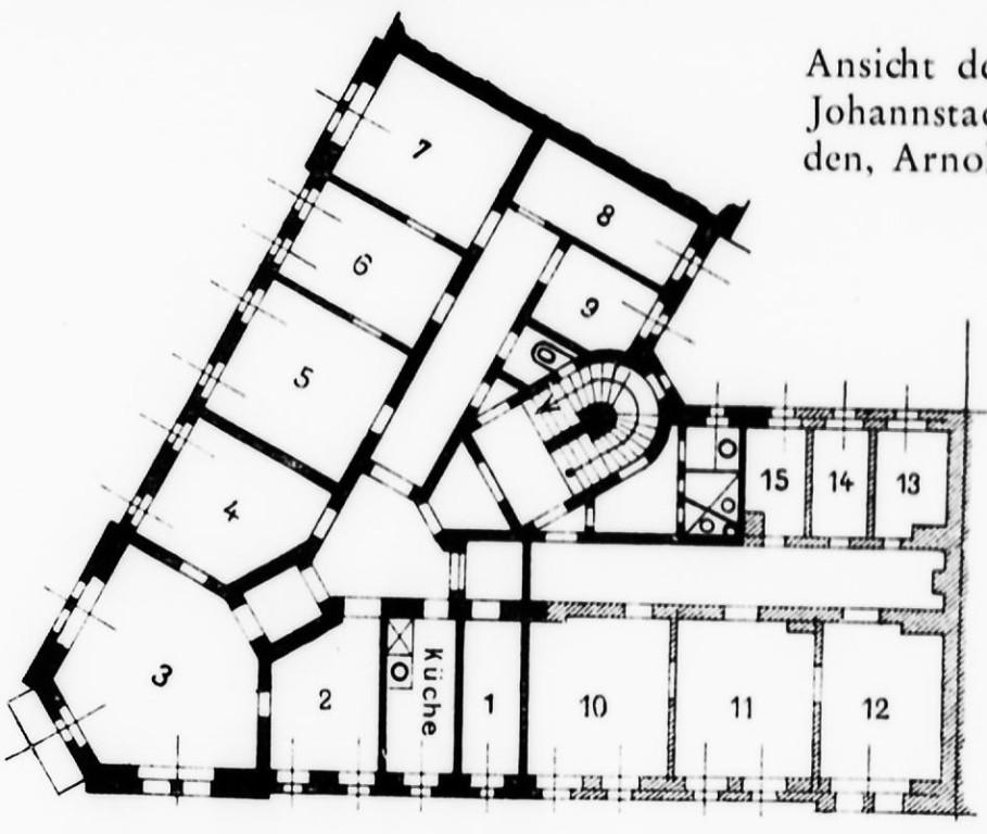 Grundriss der Kinderpoliklinik mit Säuglingsheim in der Johannstadt (Arnoldstr.)