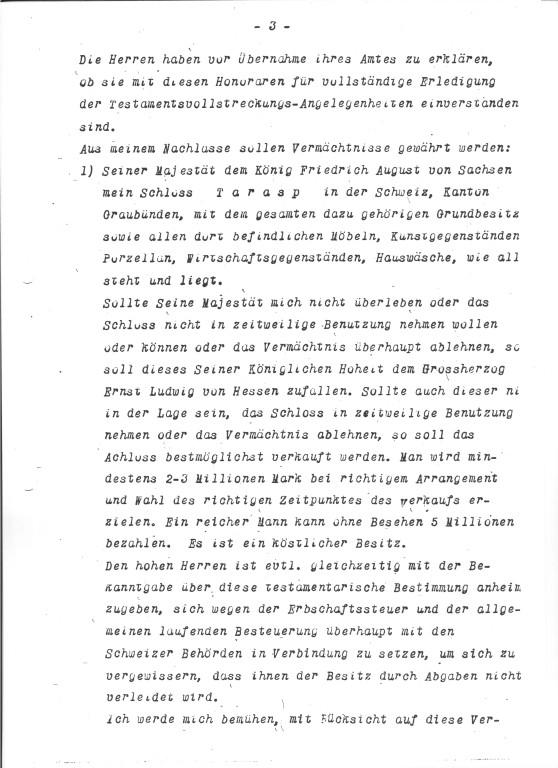 Lingners Testament (Auszug)