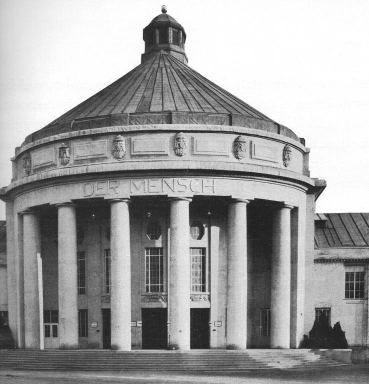 """Der von Lingner konzipierte Pavillon """"Der Mensch"""""""