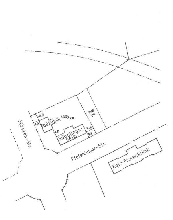 Entwurf für einen Neubau des Säuglingsheimes