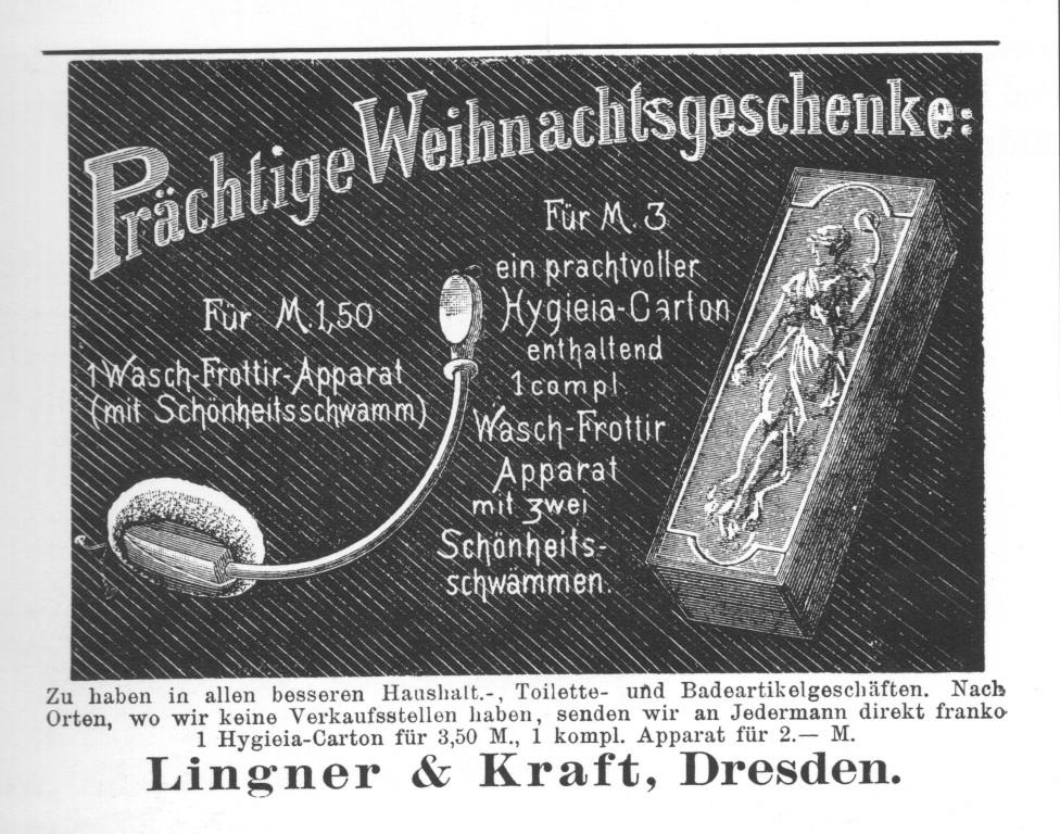 Reklame für den Frottier-Apparat