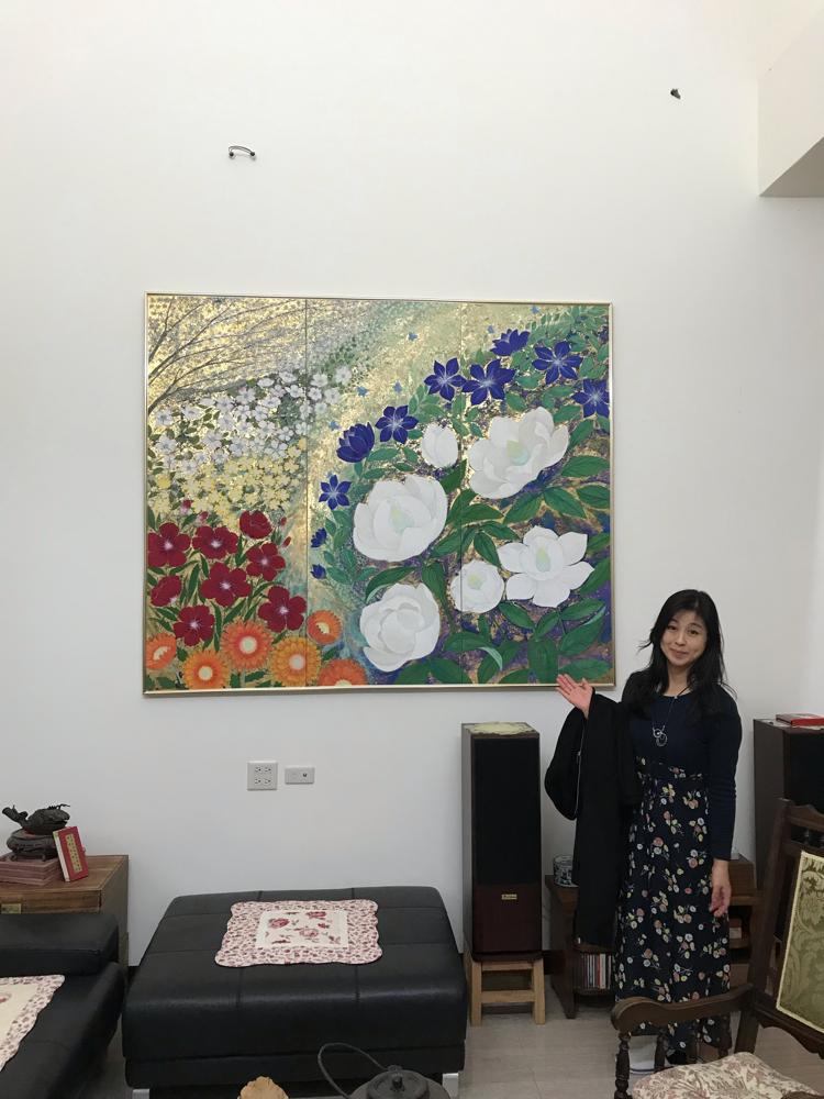 2018夏個展でお買い上げ下さった方に、台湾の邸宅にご招待されました。