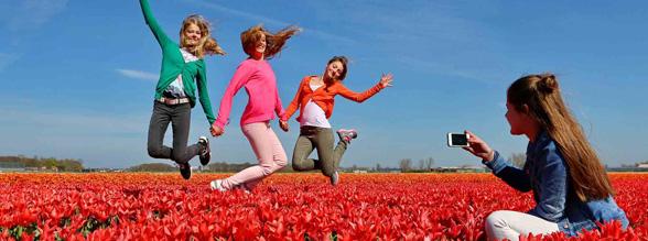 Bloemencorso, Keukenhof bij Bungalowpark Noordwijk