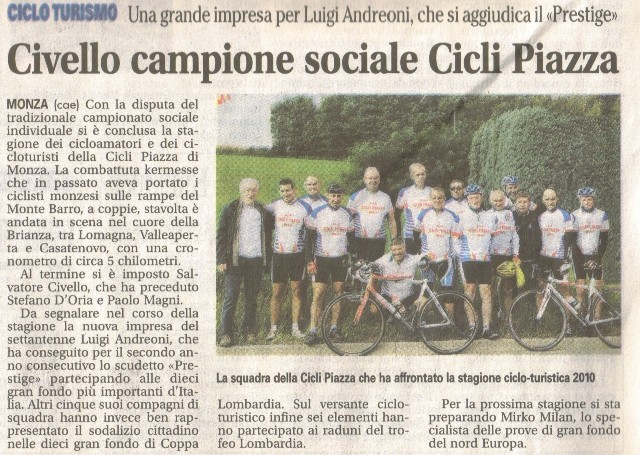 Giornale di Monza del 26-Ott-2010
