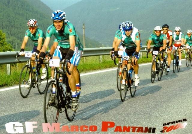 Mauro e Nicola nei primi Km del Gavia alla G.F. Marco Pantani
