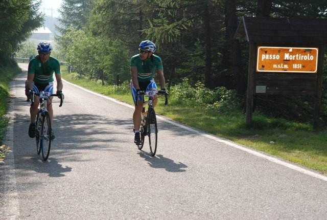 Paolo e Andrea sul Mortirolo alla G.F. Marco Pantani