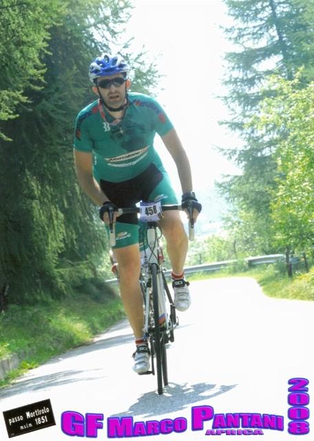 Andrea P. sul Mortirolo alla G.F. Marco Pantani