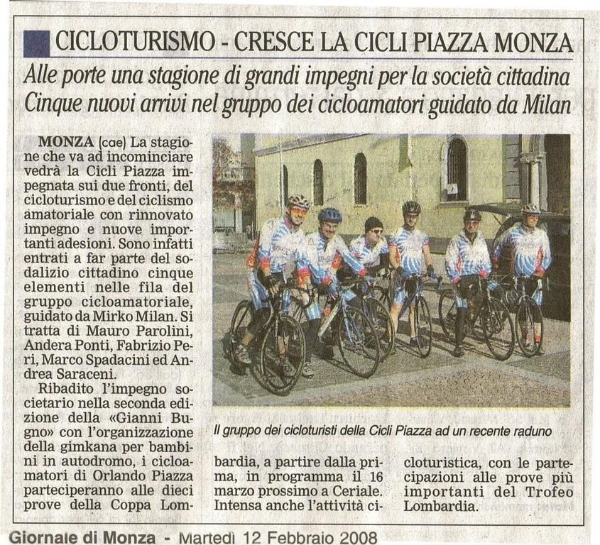 Giornale di Monza del 12-Feb-2008