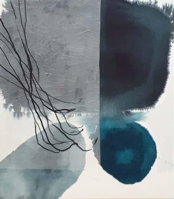 """SOLD_Series """"Plants"""" - Tusche auf Leinwand / ink on canvas - 70 x 80 cm"""