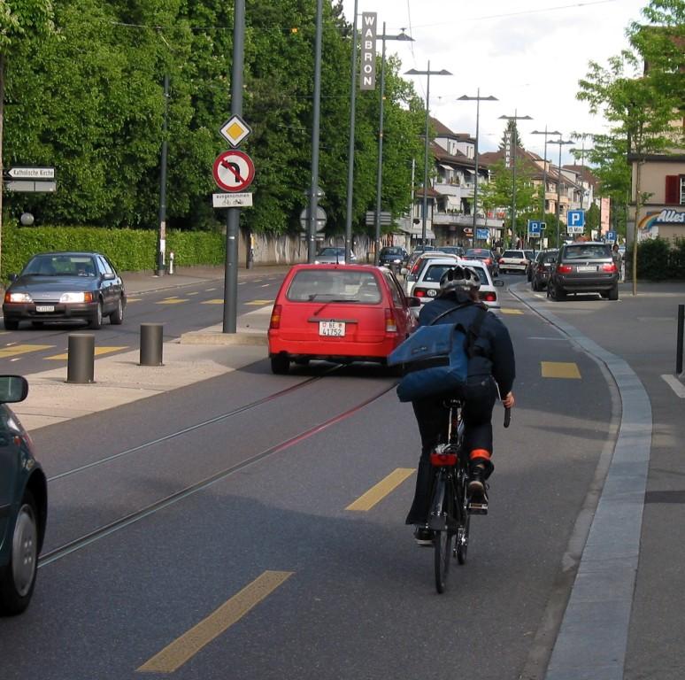 La part modale des cyclistes a augmenté de 50%, sur l'axe
