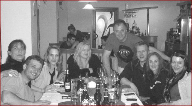 vl. Carsten, Nicole, Sonya, Danni, Romulus, Tom, Corinna und Danie