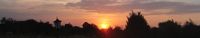 Sonnenuntergang in Timisoara - Gute Nacht, morgen haben wir viel zu tun.