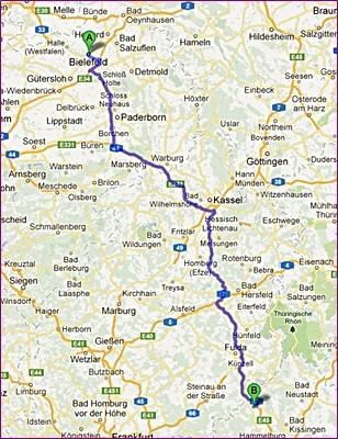 270 km von Bielefeld