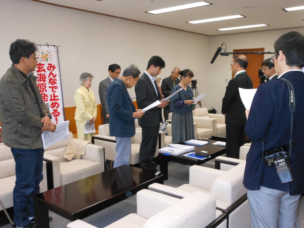 2013.3.25 佐賀県防災会議へ要請、真の防災は原発をなくすこと!