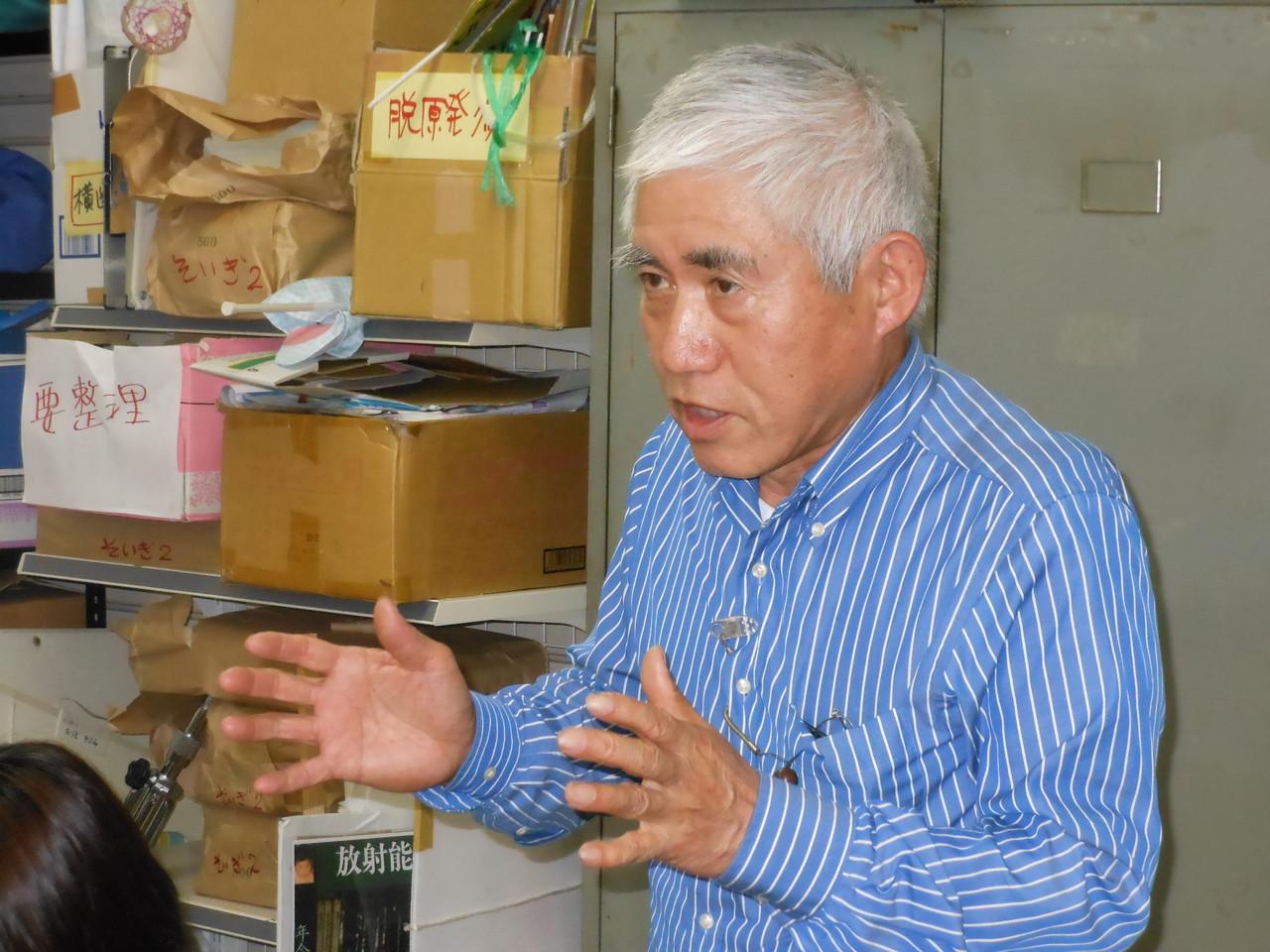 2012.6.17 活動報告会にて、澤山保太郎会長語る