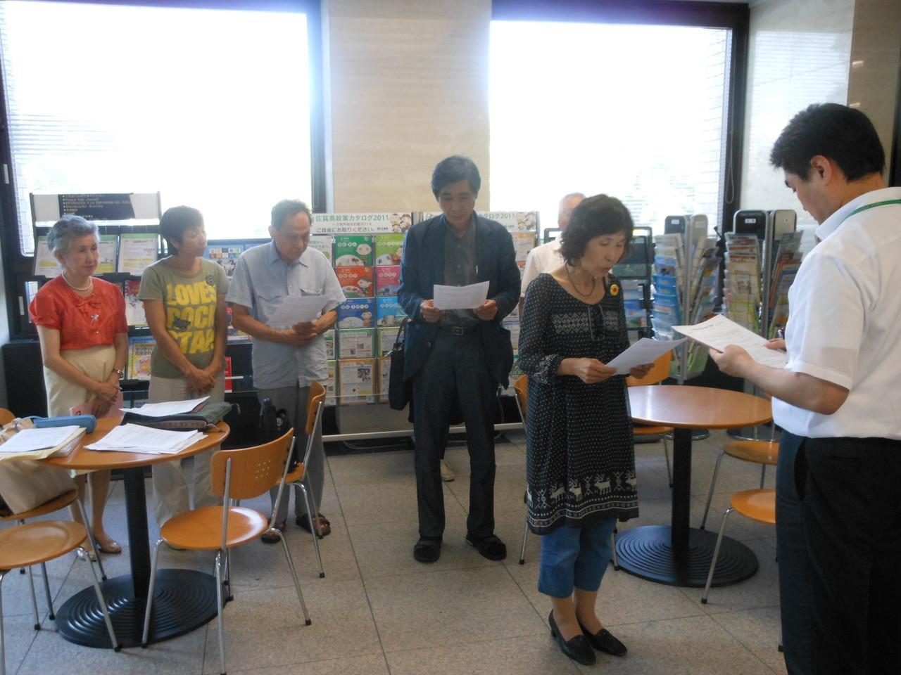 2012.9.11 佐賀県知事へ再稼働反対要請