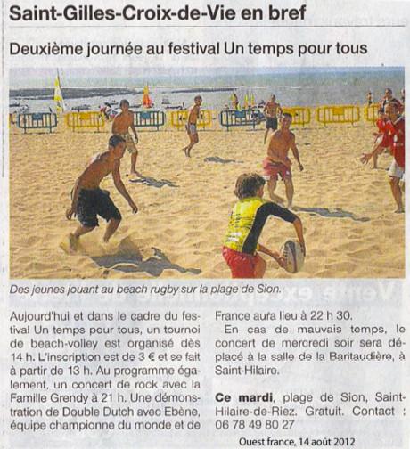 Ouest France - 14 août 2012