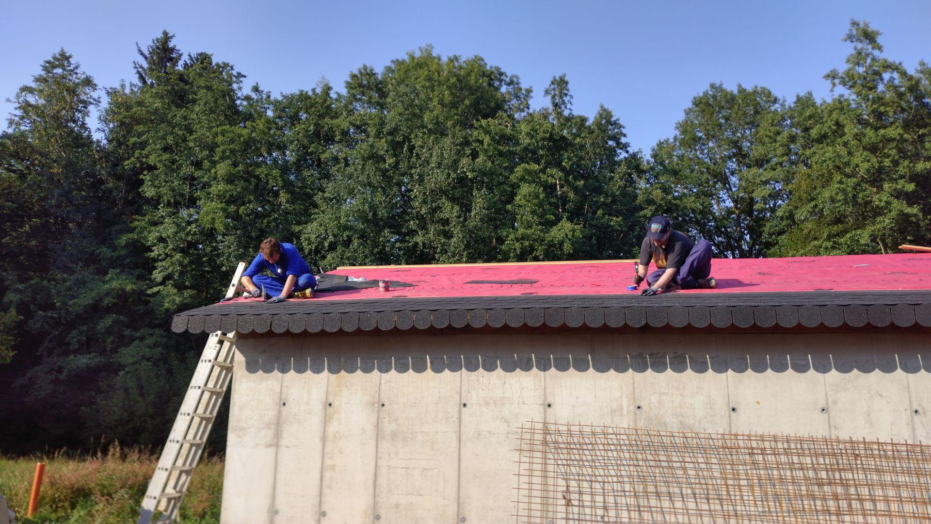 Making the roof waterproof