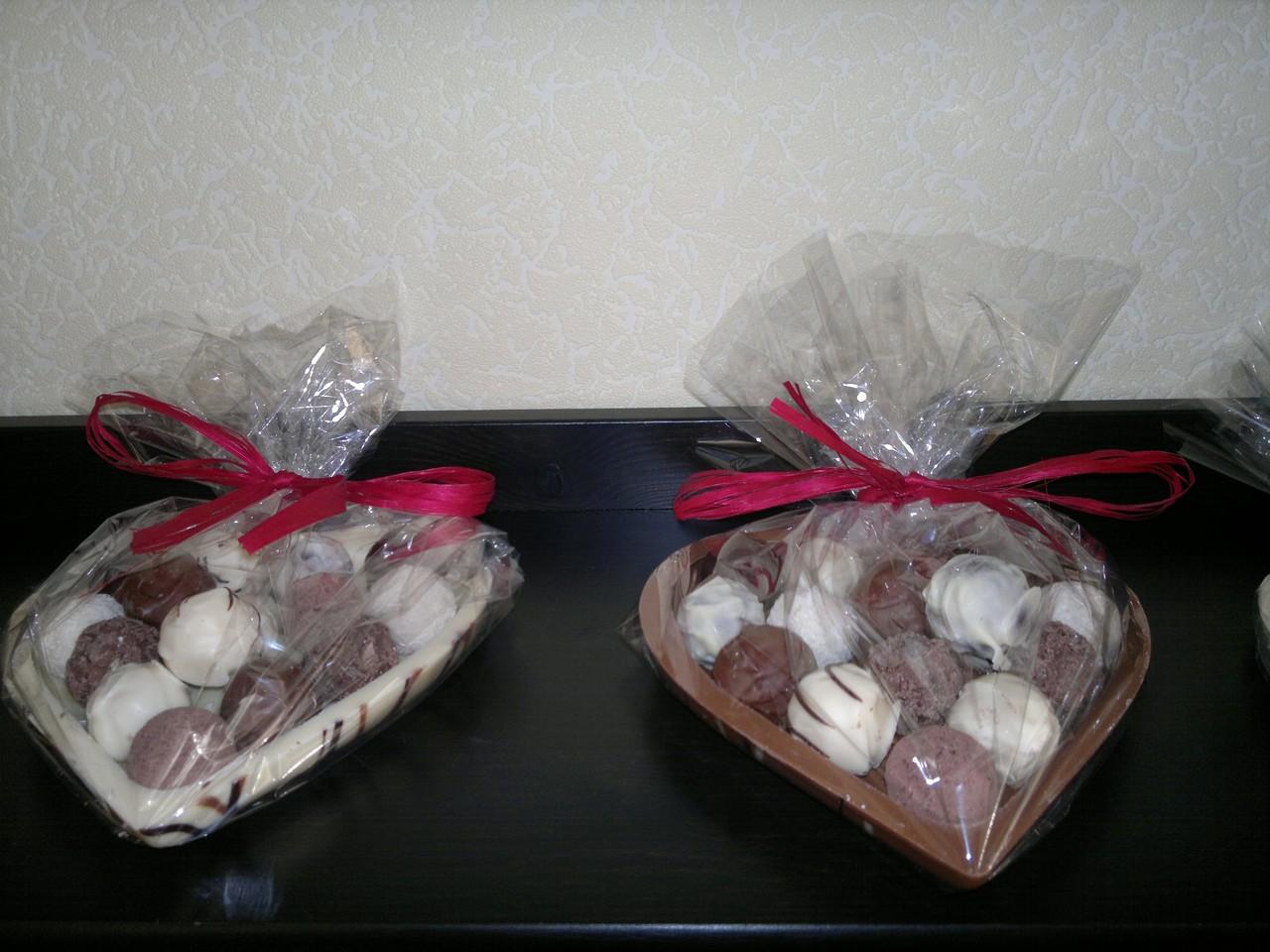 Schokoladenherz mit Trüffeln