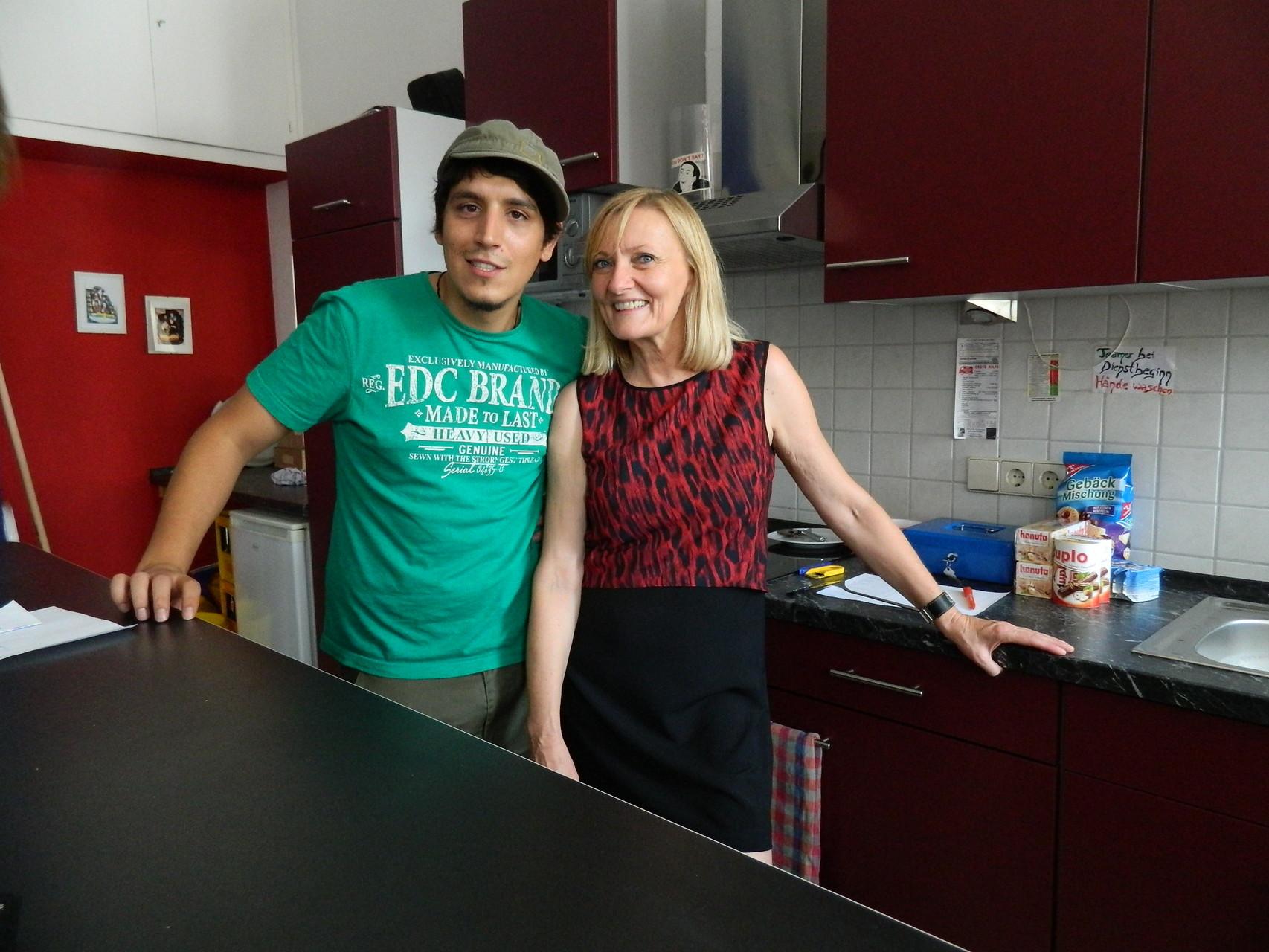 Nick und Susanne, die zwei Jugendsozialarbeiter Oppenaus :)