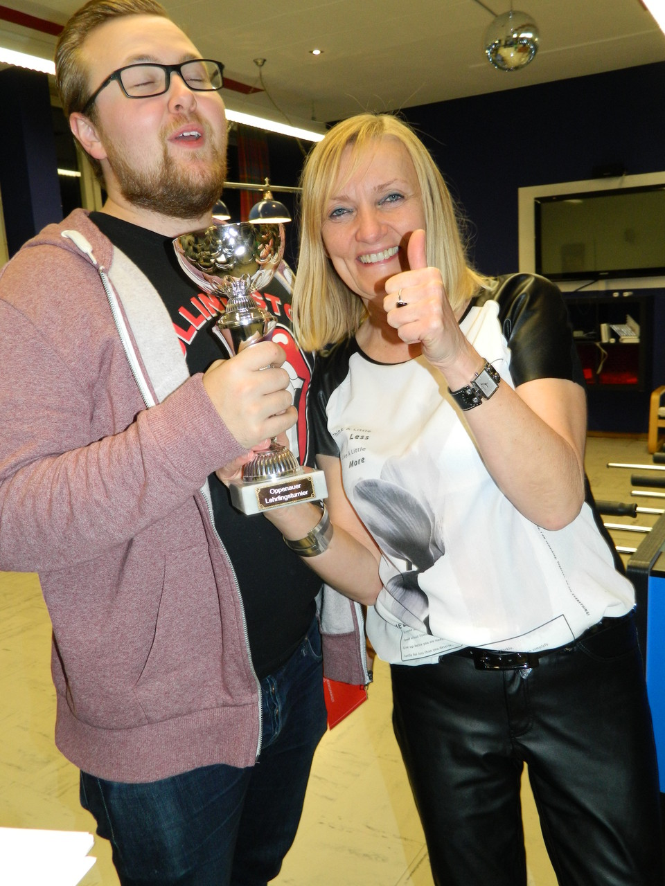 Der Jugendbeiratssprecher Daniel und unsere liebe Susanne :)